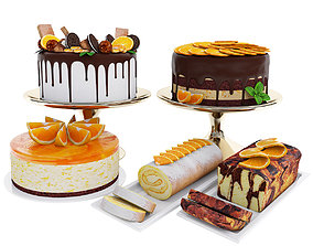 3D Orange cake collection 4