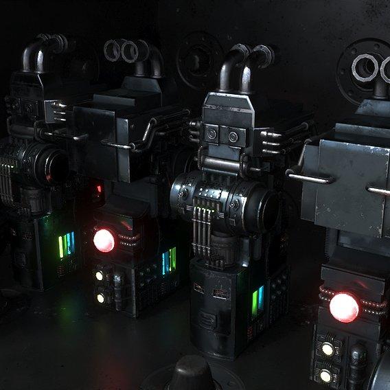 Si Fi Machinery 3d model 3ds max