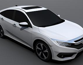 3D asset Honda Civic 2017