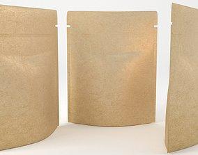 industrial paper bag 3D model realtime