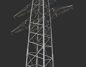 3D asset realtime High voltage tower