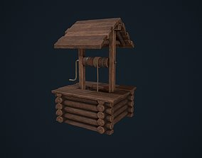 3D asset Wooden Wishing Well
