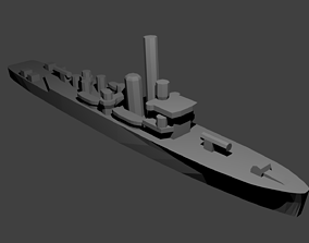British Shoreham Class Sloop Warship 3D print model