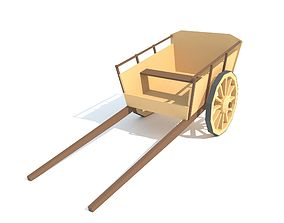 3D model Wooden wagon