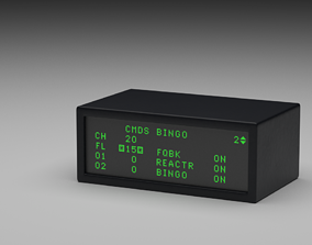 3D model F16 Data Entry Display - DED