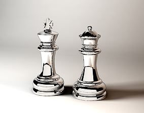 3D model Chesss Figures King Queen