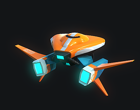Gameready Stylize Spaceship 3D asset