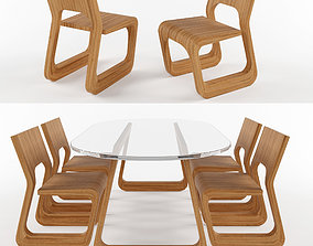 3D Steek Table and Chair by Artisan