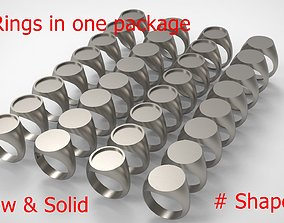 3D print model signet Signet Men Ring Pack No 43