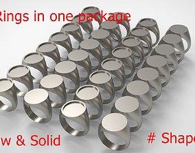 3D print model signet Signet Men Ring Pack No 43