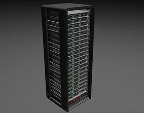 Server Rack - Plain Storage 3D asset