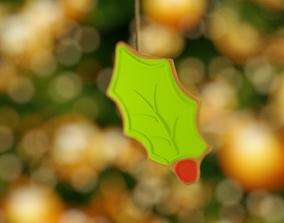 Christmas mistletoe 3D model