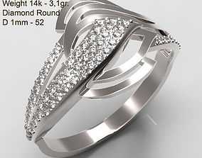Ring MR-3 Woman Jewelry STL 3d print