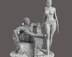 Deadpool and GirlFriend Lady Deadpool 3D print model