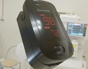 3D asset Finger Pulse Oximeter Heart Rate