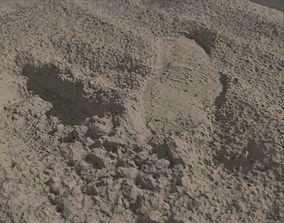 Beach Sand Footprint RAW SCAN 3D