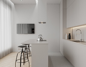 Small Apartment Scene for Cinema 4D and Corona 3D model