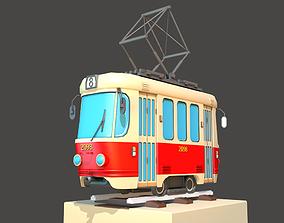 3D model Old City Tram Tatra T3