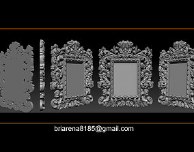 Mirror frame 3d - CNC machine - 3D CNC stl