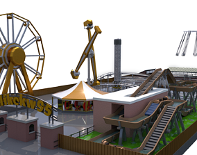 log 3D model Low Poly Theme Park