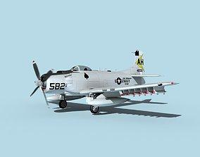3D Douglas A-1H Skyraider USN Oriskany