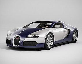 3D model Bugatti Veyron - LowPoly