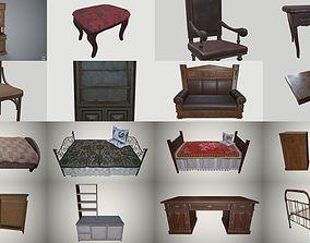 pbr Old furniture 3D model