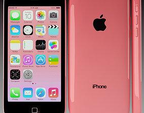 3D Apple iPhone 5c Red