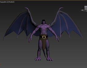 realtime Goliath form gargoyles VR - AR - low-poly 3D