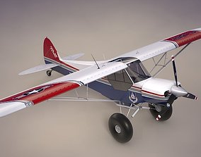 Piper Super Cub Bushplane Civil Air 3D asset