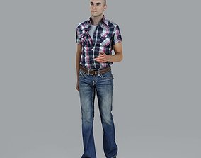 Casual Man Walking with Jeans 3D model