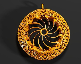 3D print model Celtic Border Knot Pendant