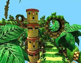 3D model Platformer - Runner Game Level Mobile Ready