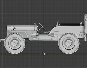 vehicle 3D jeep willys