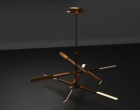 A bright chandelier 3D asset