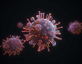 3D model PBR Corona Virus