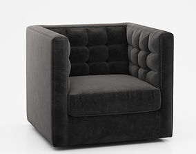 3D model room Rochester Swivel Armchair by West Elm
