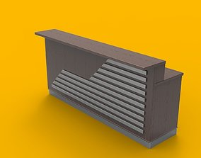 Cash counter 3D model retaill