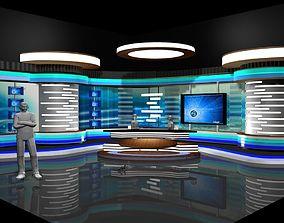 3D model TV Studio News Set 2