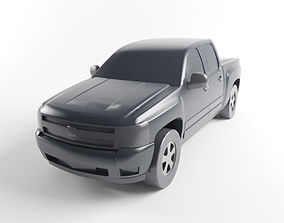 3D model Low Poly Pickup Truck Game Ready Asset