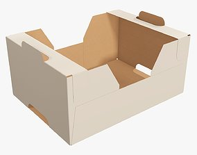 3D model Retail cardboard tray box 01