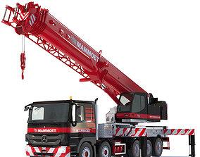 3D model Mobile crane Mercedes HK70