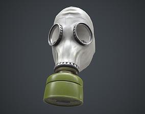 3D model GP-5 USSR gas mask white