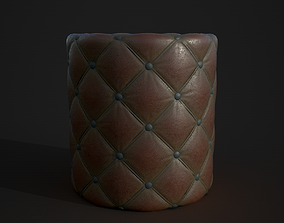 Leather material 3D model
