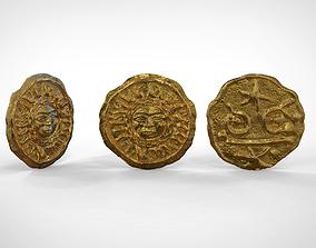 American gods coin 3D print model