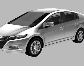 Honda Inste Lowpoly car with UV and Texture 3D model