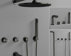 3D model Shower Lusso stone
