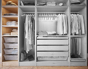 3D model Wardrobe with Clothes part A