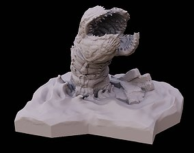 3D print model Desert worm in dunes sci fi creature