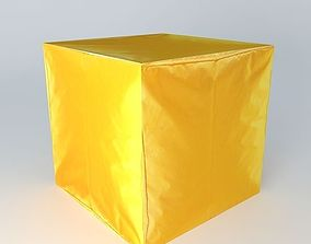3D model pouf ext yellow houses of the world